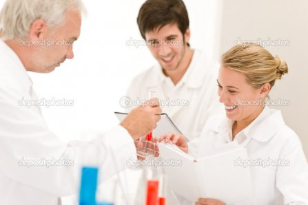 Team of scientists in laboratory - medical research | Stock Photo